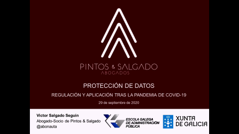 Protección de datos a partir da pandemia Covid-19